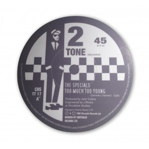 Too Much Too Young -  The Specials - Record Label Vinyl Sticker