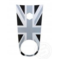 Black Union Jack Horn Cover Sticker fits Vespa ET4 ET2 Scooter