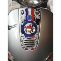 Horn Cover Sticker fits Vespa ET4 ET2 Scooter The Jam