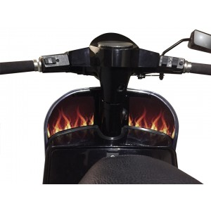 Flame Design Inner Leg Shield Sticker fits Vespa PX T5 LML Scooter