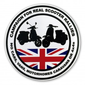 Campaign for Scooter Rallies Sticker