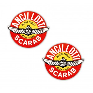 Ancillotti Scarab Stickers Small  x 2