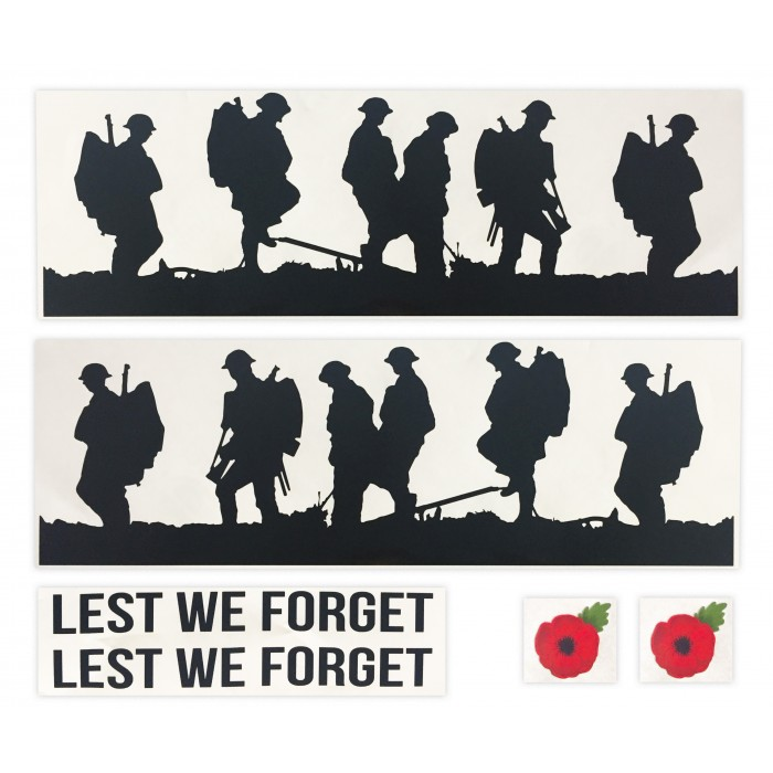 Decal Kit - Lest We Forget Remembrance Poppy - Universal stickers