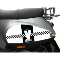 Madness Side Panel Stickers fits Vespa ET2 ET4 Scooter