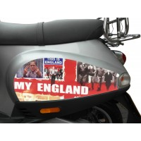 This is England Side Panel Stickers fits Vespa ET2 ET4 Scooter