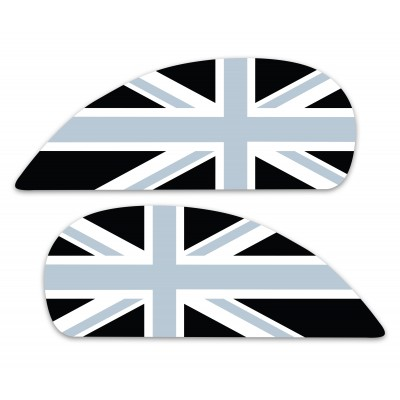 Black Union Jack Side Panel Stickers fits Vespa GTS Scooter