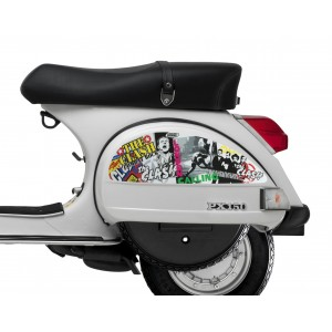 The Clash Side Panel Stickers fits Vespa PX T5 Scooter