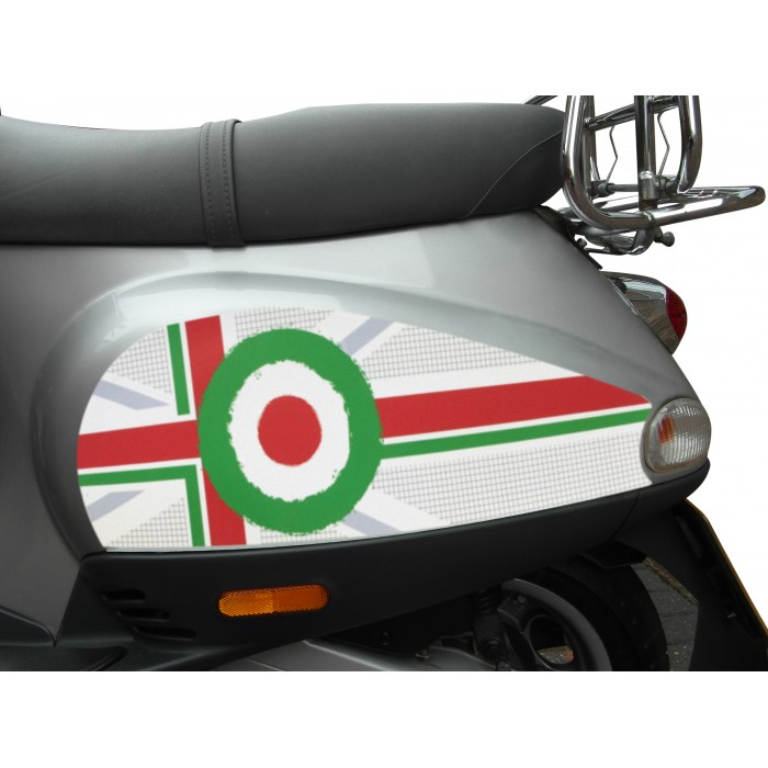 Italian Target Side Panel Stickers fits Vespa ET2 ET4 LX Scooter