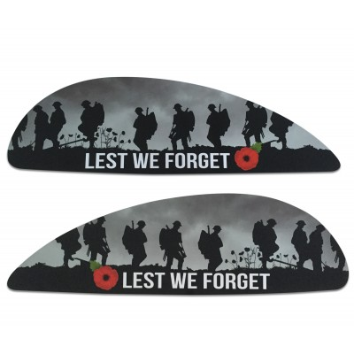 Lest We Forget Remembrance Poppy Side Panel Stickers fits Vespa PX T5 Scooter