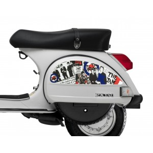 The Jam Mod Target Side Panel Stickers fits Vespa PX T5 Scooter