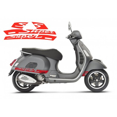 Super Stripe Decals -  Side Panel Stickers fits Vespa GTS Scooter