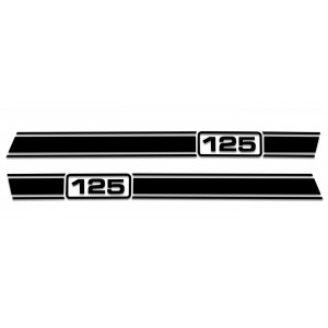 Lambretta LI Stripe Kit - Gloss Black 125 150 175 200 225