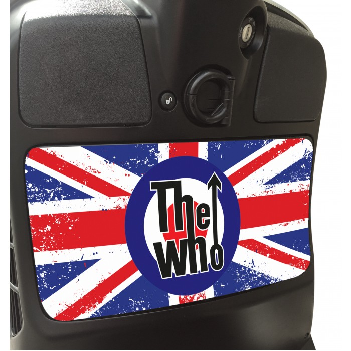 The Who Glove Box Sticker fits Vespa GTS Scooter