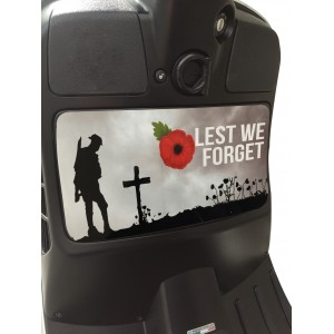 Lest We Forget - Remembrance Poppy Glove Box Sticker fits Vespa GTS Scooter