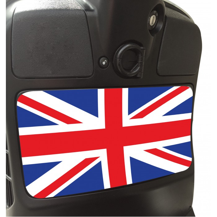 Union Jack Glove Box Sticker fits Vespa GTS Scooter