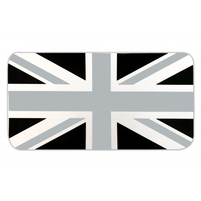 Union Jack Grey / Black  Glove Box Sticker fits Vespa GTS Scooter