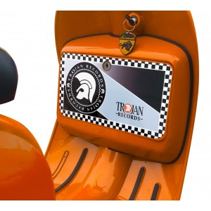 Trojan Glove Box Sticker fits Scomadi / Royal Alloy Scooter
