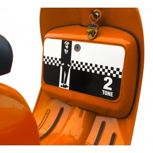 2 Tone Ska Glove Box Sticker fits Scomadi / Royal Alloy Scooter
