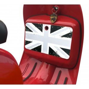 Black Union Jack Glove Box Sticker fits Scomadi / Royal Alloy Scooter