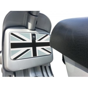 Grey Union Jack Glove Box Sticker fits Vespa PX T5 LML Scooter