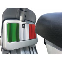 Italian Flag Tool Box Sticker fits Vespa PX T5 LML Scooter