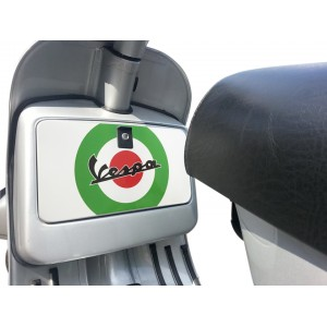 Italian Target Tool Glove Box Sticker fits Vespa PX T5 LML Scooter