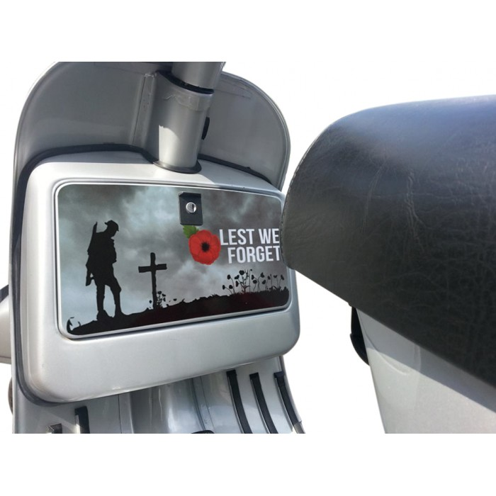 Lest We Forget Remembrance Poppy  Glove Box Sticker fits Vespa PX T5 LML Scooter