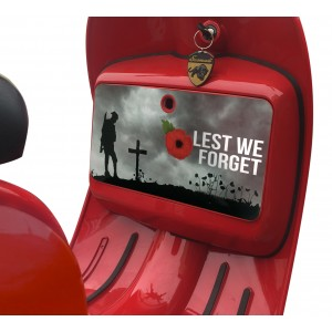 Lest we Forget Glove Box Sticker fits Scomadi / Royal Alloy Scooter